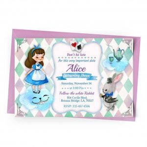 Customize Alice in Wonderland Invitation Online