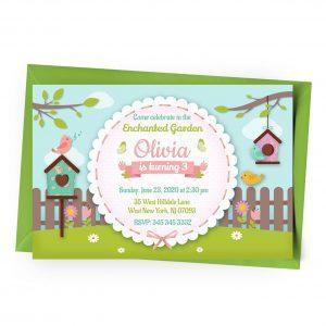 Customize Enchanted Garden Invitation