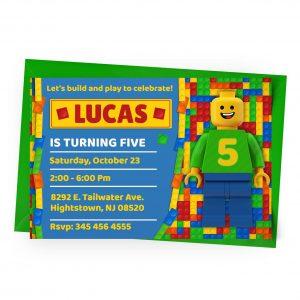 Customize Lego Invitation Online