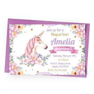 Customize Unicorn Invitation online