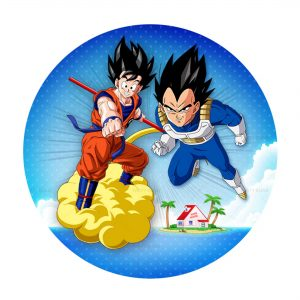 Dragon Ball Round Label