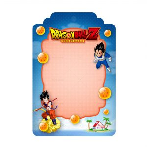 Free Dragon Ball Tag Label Editable Template