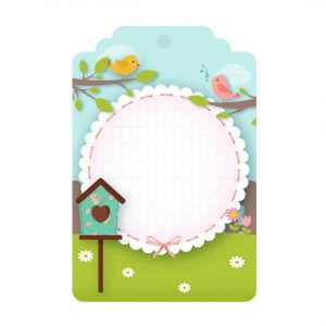 Free Enchanted Garden Tag editable template download