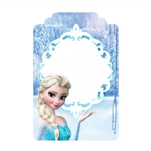 Free Frozen Tag Label Editable Template