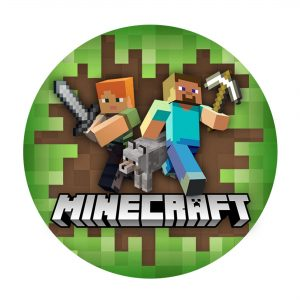 Free Minecraft Round Label Printable