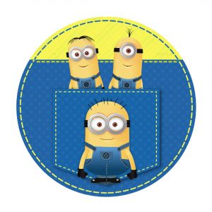 Free Minions Round Label