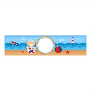 Free Nautical Teddy Bear Bottle Label to Edit and Print