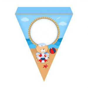 Free Nautical Teddy Bear Letter Banner Free Nautical Teddy Bear Bottle Label to Edit and Print
