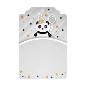 Free Panda Printables - Tag editable template to download and print