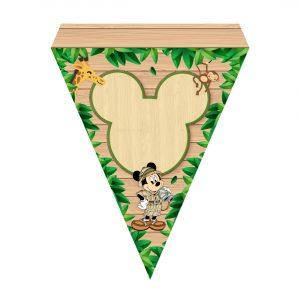 Mickey Safari Letter Banner Free