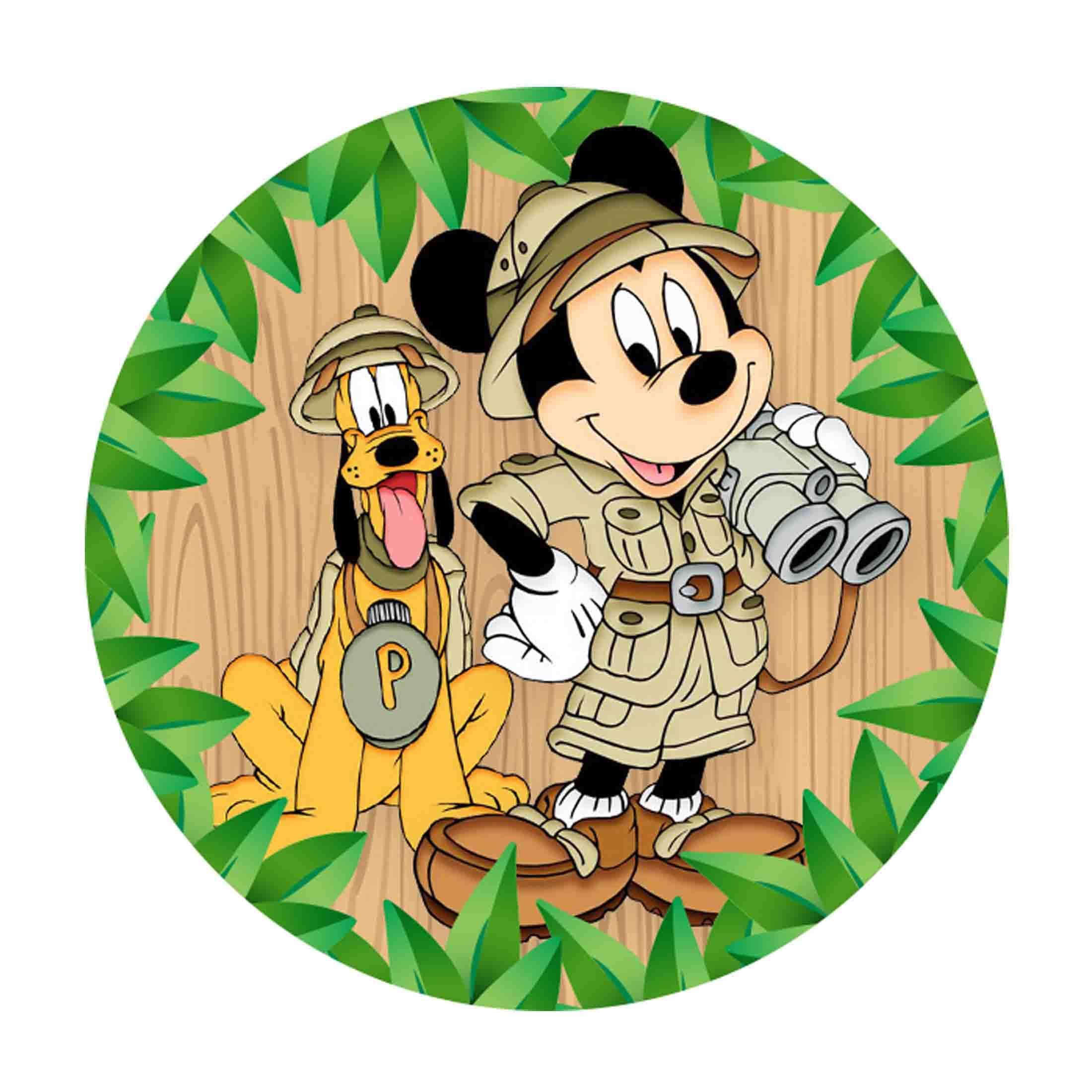 Mickey Safari Round Label