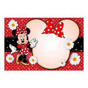 Minnie Invitation Free - Red Minnie Printable Invite - Party Blink