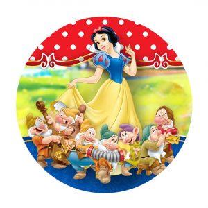 Snow White Round Label