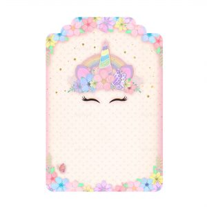 Printable Unicorn Tag Free editable template download - Party Blink