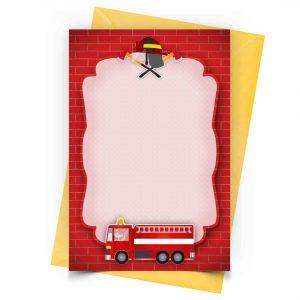 Blank Fireman Invitation