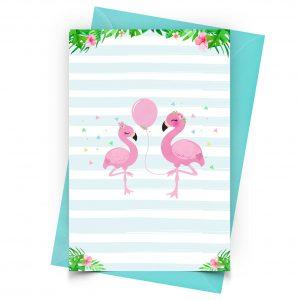 Blank Flamingo Invitation