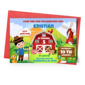 Customize Barnyard Invitation Online