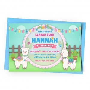 Customize Llama Invitation Online