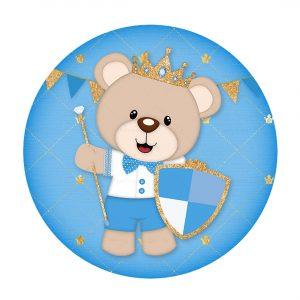 Free Royal Teddy Bear Round Label