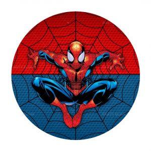 Free Spider-Man Round Label