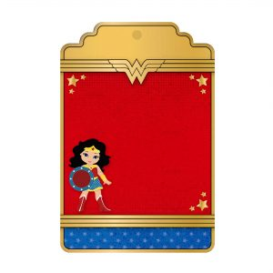Free Wonder Woman Tag Editable Template Download and Print