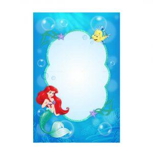 Little Mermaid Invitation Free Printable
