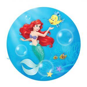 Little Mermaid Round Label Free Printable