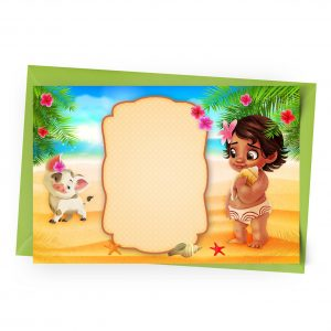 Blank Baby Moana Invitation