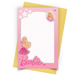 Blank Barbie Invitation
