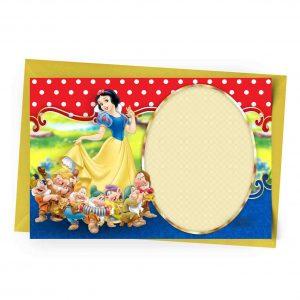 Blank Snow White Invitation