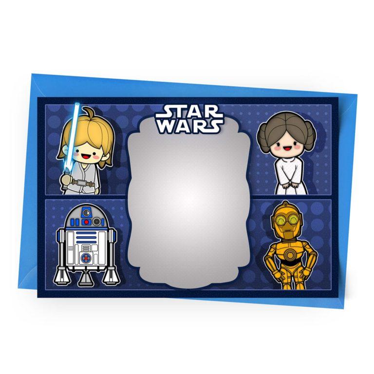 Blank Star Wars Invitation
