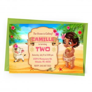 Customize Baby Moana Invitation Online