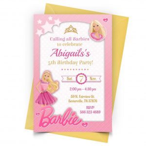 Customize Barbie Invitation Online