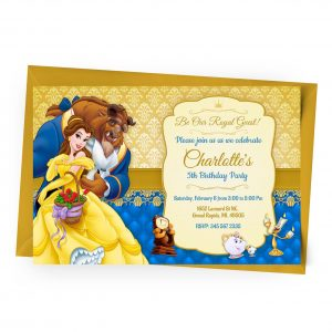 Customize Beauty and the beast Invitation Online