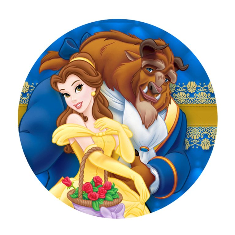Free Beauty and the Beast Round Label Printables