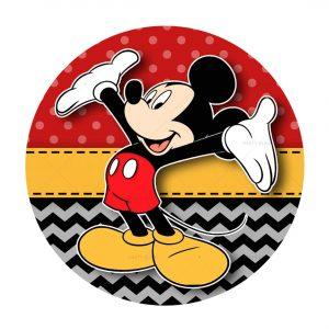 Free Mickey Printables - Round Label