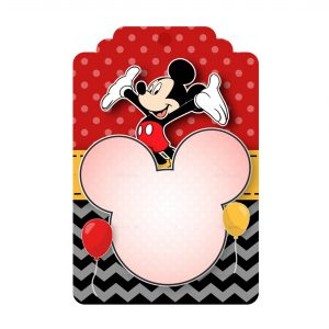 Free Mickey Printables Tag Label Editable Template