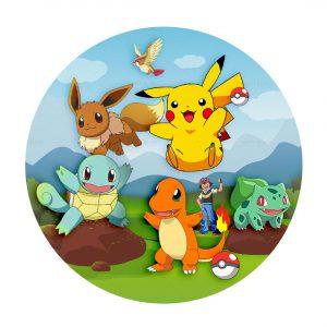 Free Pokemon Round Label