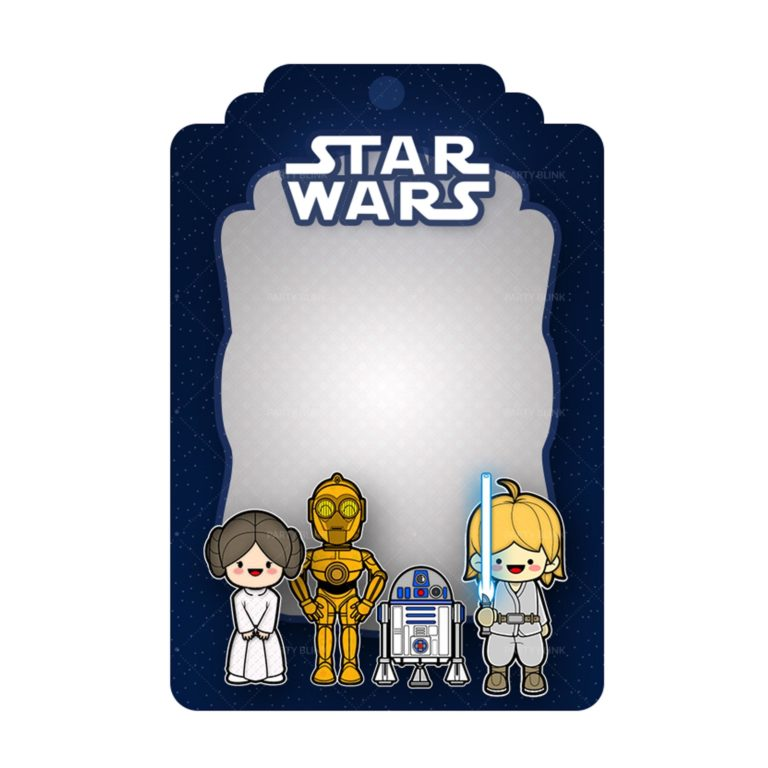 Free Star Wars Tag Label Editable Template