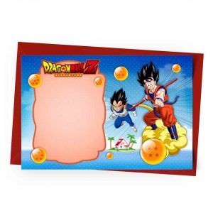 Dragon Ball Birthday Invitation Template Free