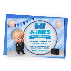 Customize Boss Baby Invitation Online