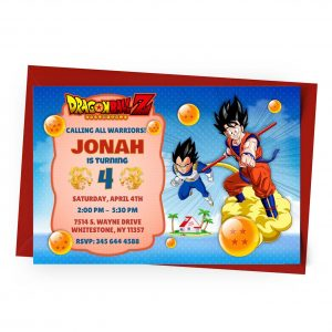 Create Dragon Ball Invitation Online