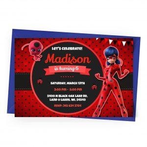 Customize Ladybug Invitation Online