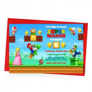 Customize Super Mario Invitation Online