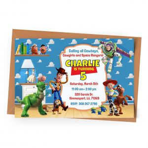 Customize Toy Story Invitation Online