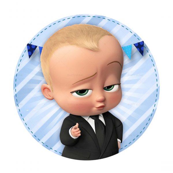 Free Boss Baby Round Label