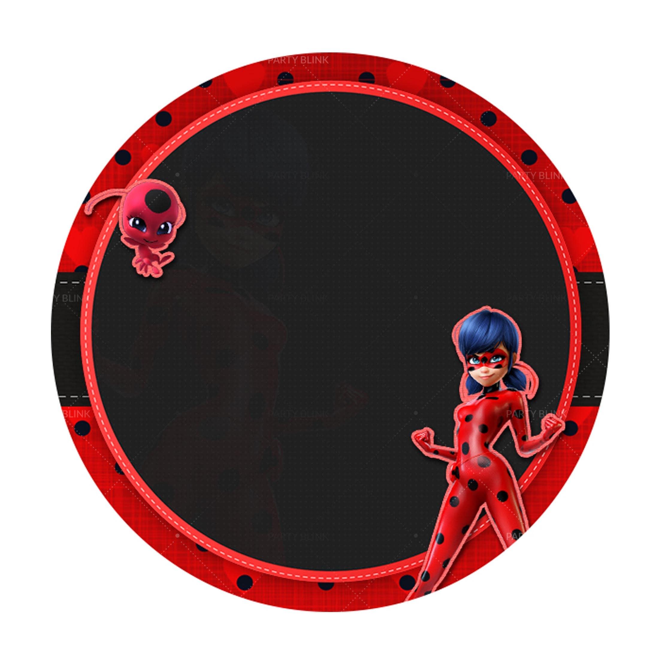 Free Ladybug Round Label