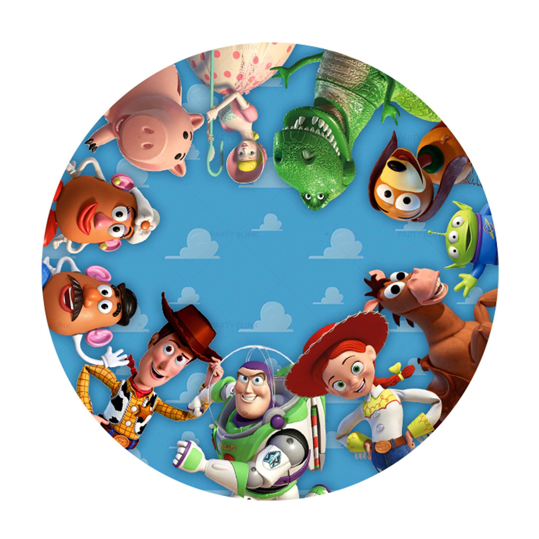 Toy Story Printables Free - Round Label