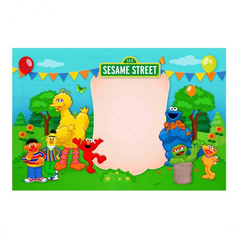 Free Sesame Street Customizable Invitation Template