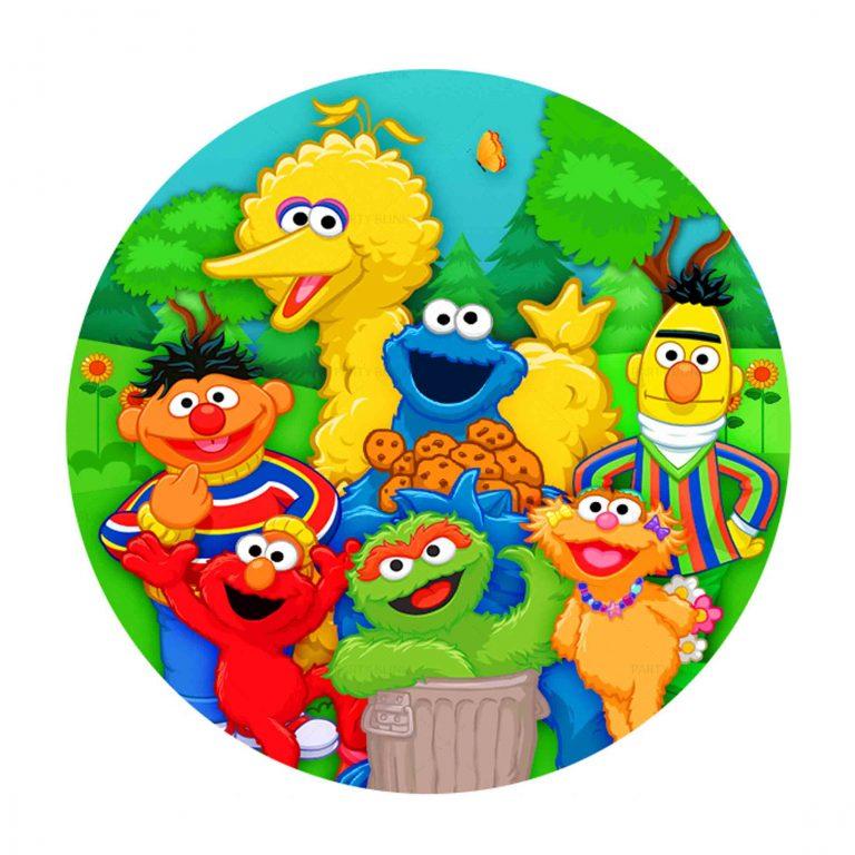 Free Sesame Street Round Label
